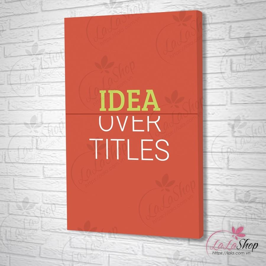 Tranh treo tường idea over titles