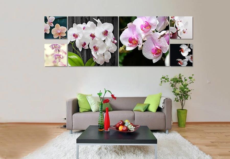 Tranh treo tường hoa lan khoe sắc