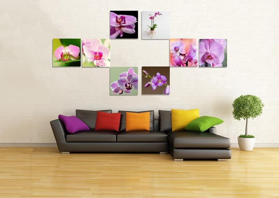 Tranh treo tường hoa lan tím 3
