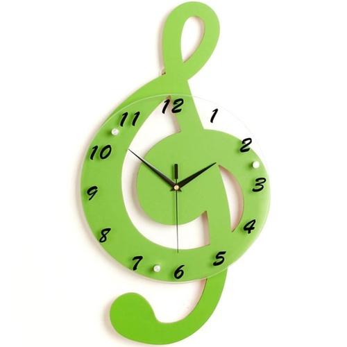 Đồng hồ treo tường nốt nhạc xanh