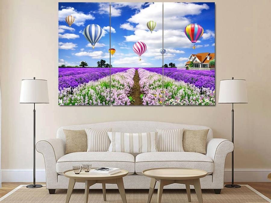 Tranh treo tường cánh đồng Lavender 2