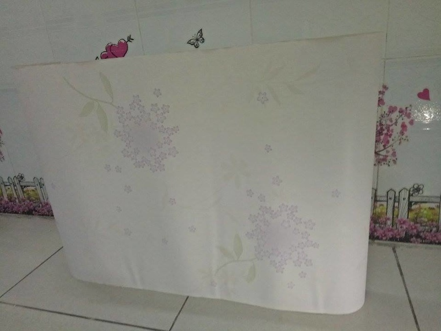 Giấy decal cuộn hoa tím 2