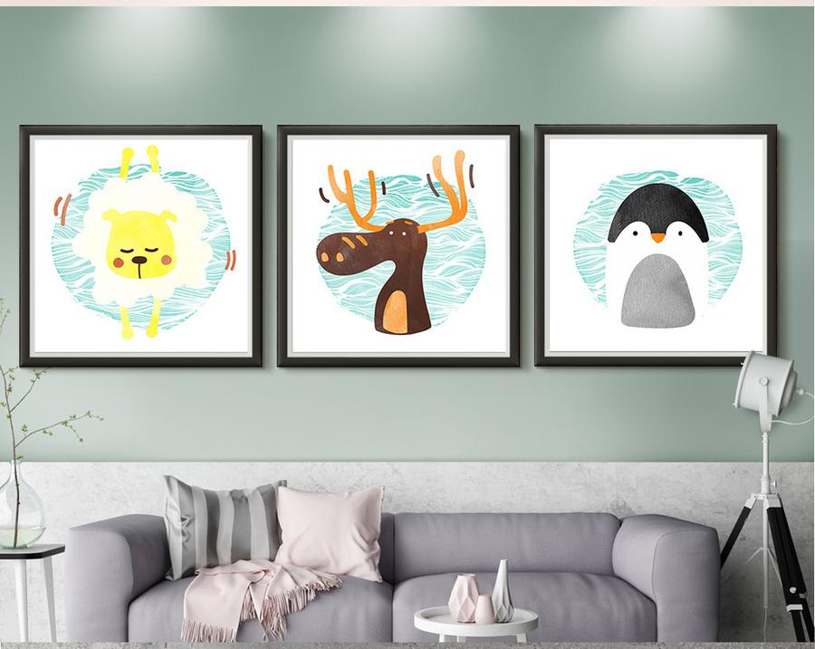 Tranh treo tường chim cánh cụt ngộ nghĩnh
