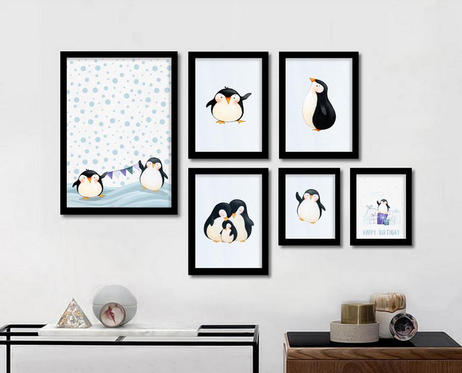 Bộ tranh treo tường chim cánh cụt