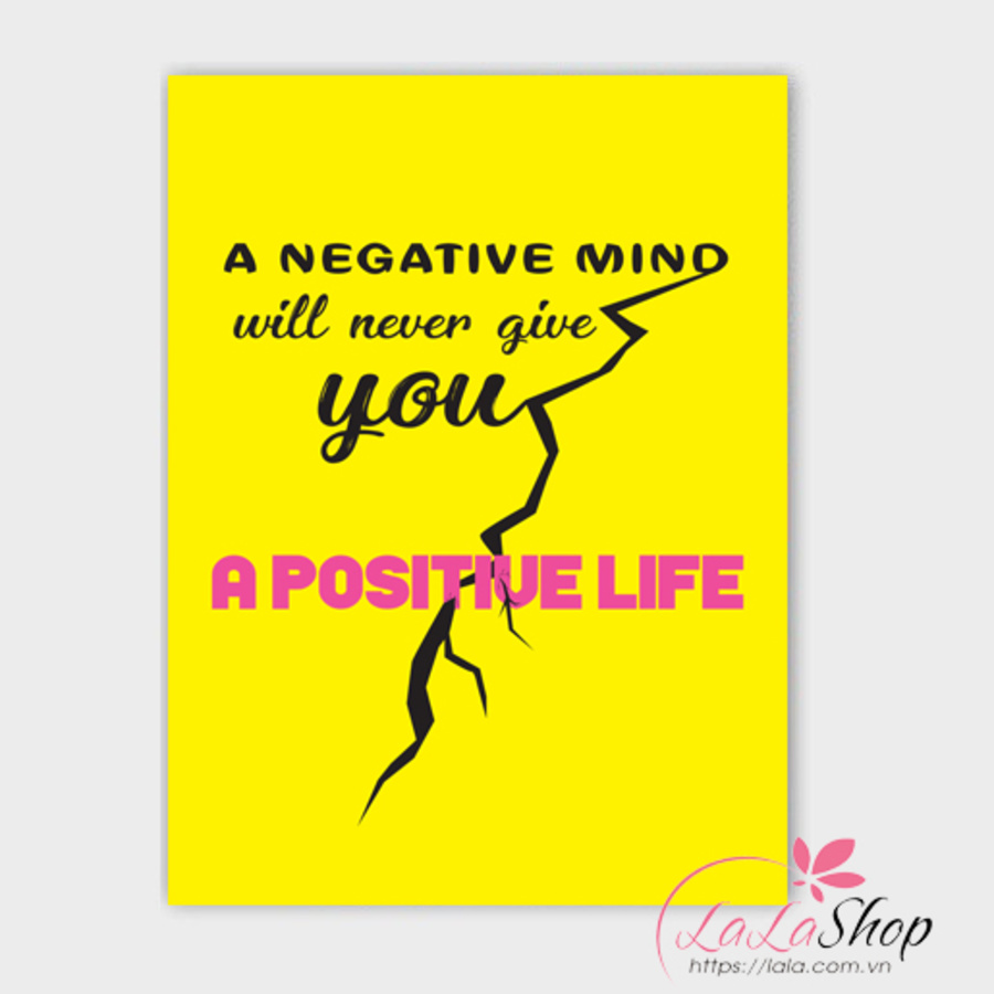 Tranh treo tường A negative mino will never give you