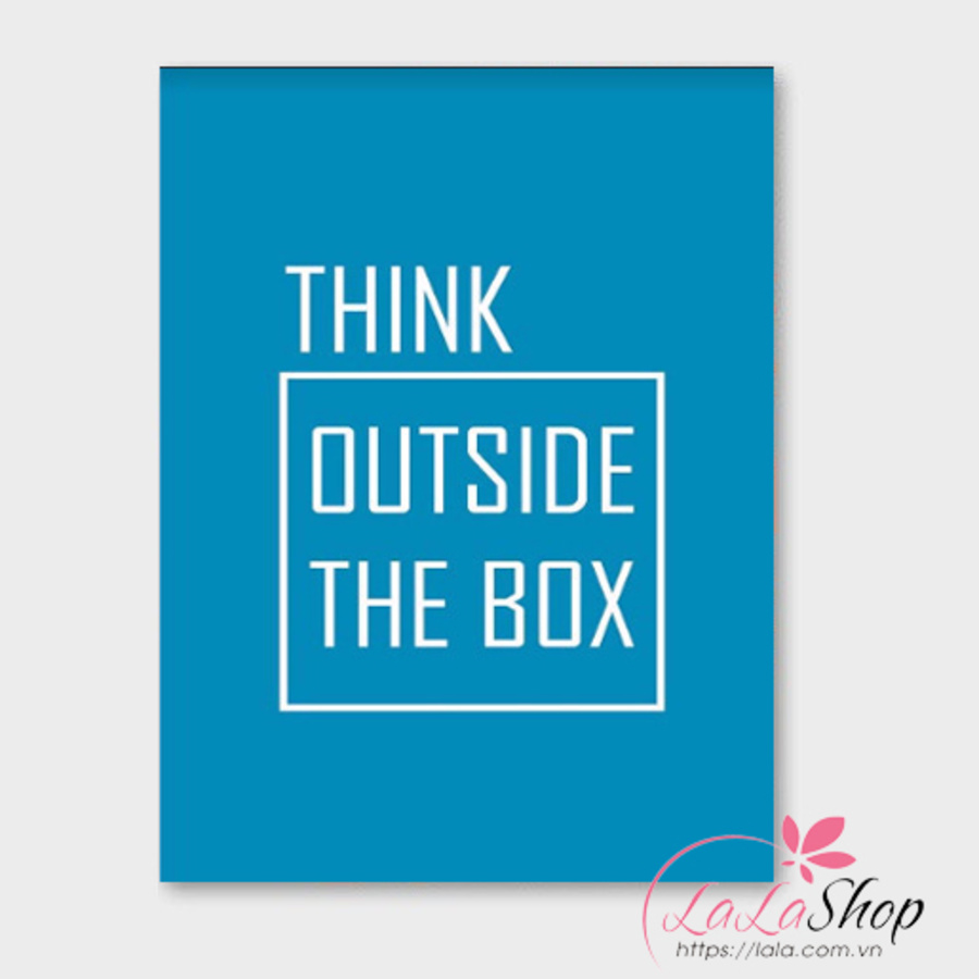 Tranh treo tường Think outside the box