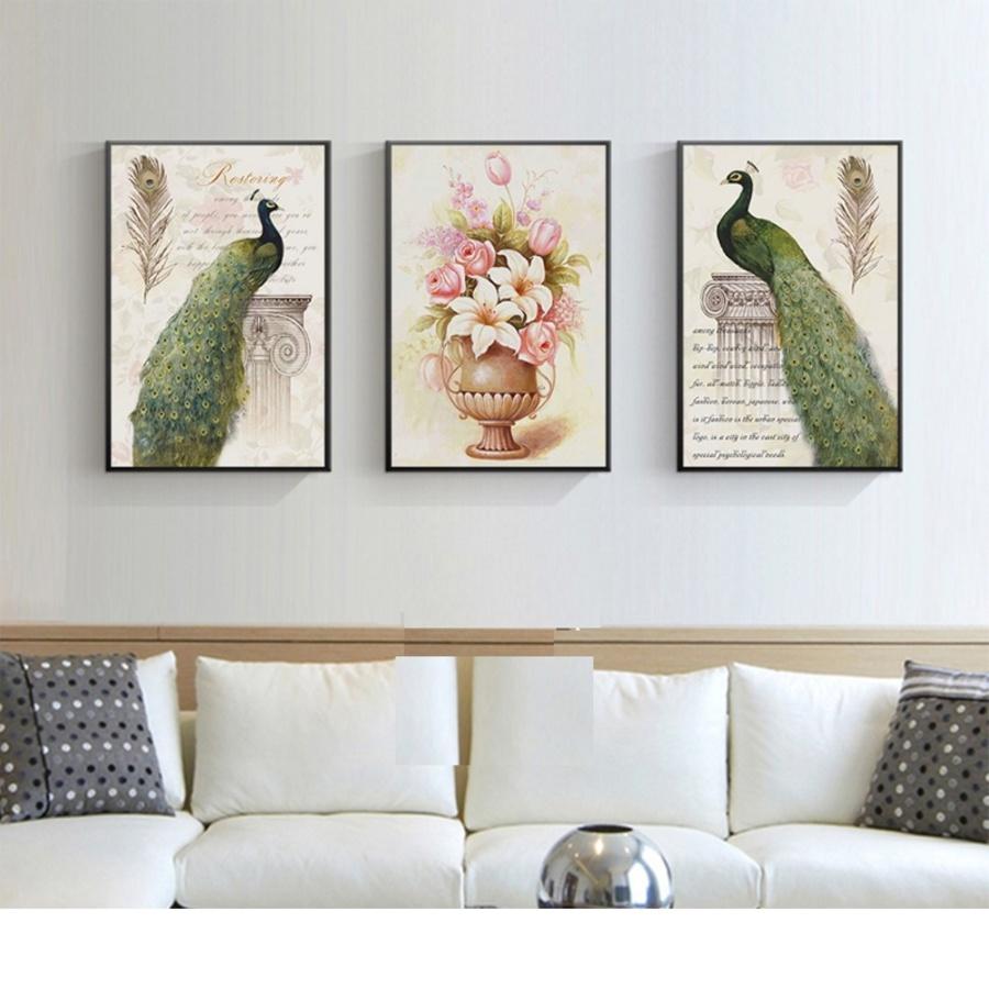 Tranh treo tường đôi chim công uyên ương