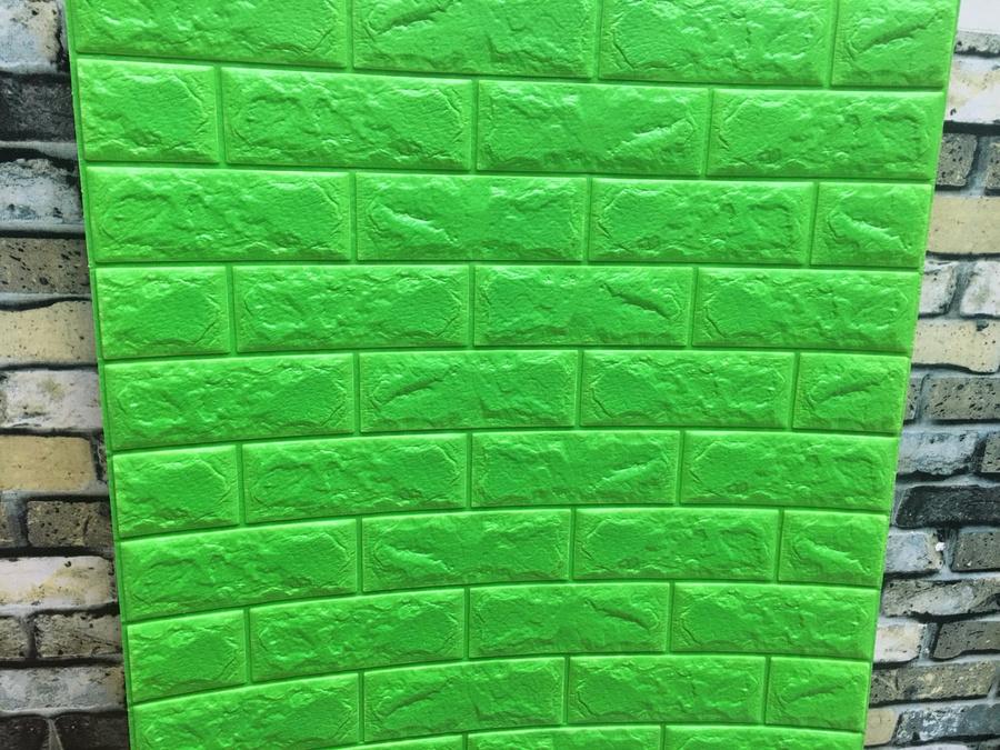 Xốp đá dán tường 3D xanh lá 3