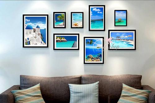 Bộ khung ảnh biển xanh