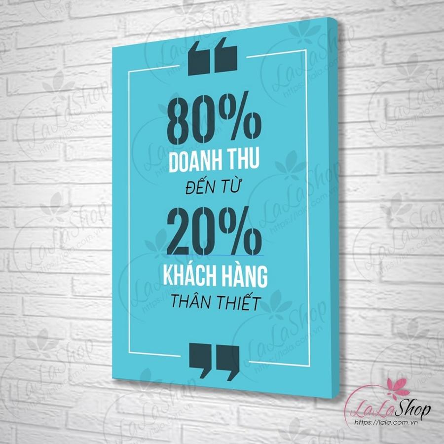 Tranh treo tường 80% doanh thu đến từ 20% khách hàng thân thiết