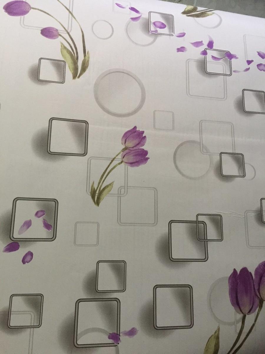Giấy decal cuộn hoa tulip tím khổ 0.9m