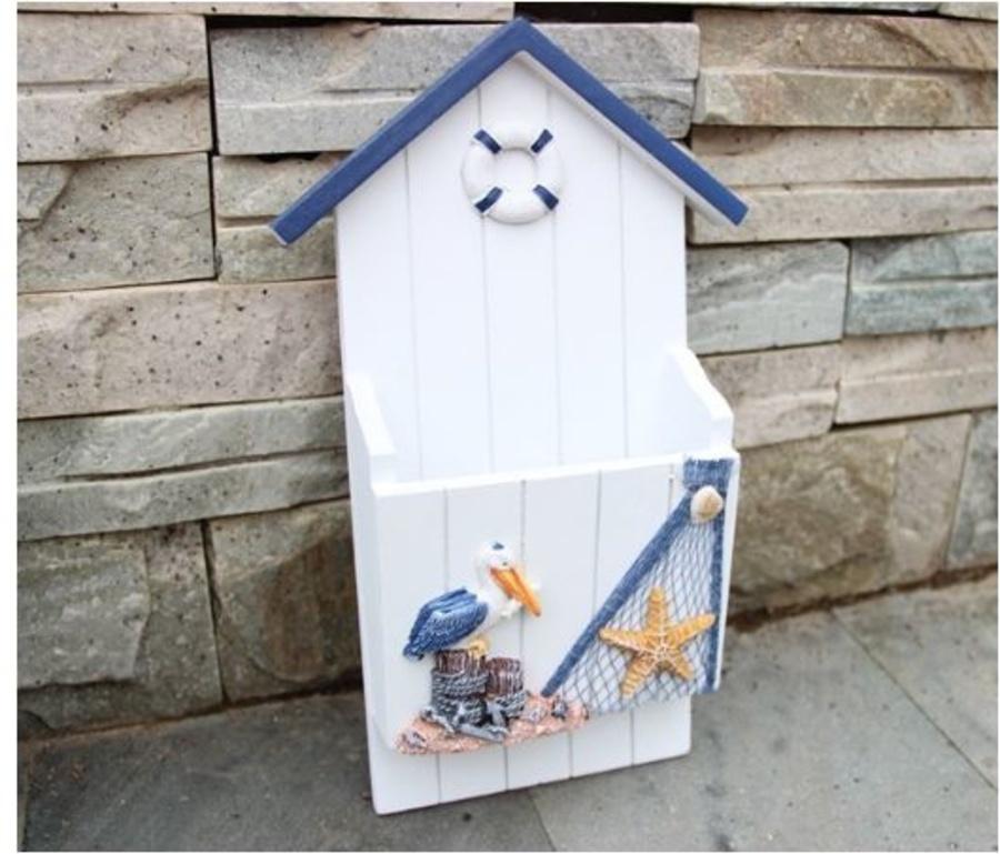 Bảng treo hộp thư gỗ biển 4