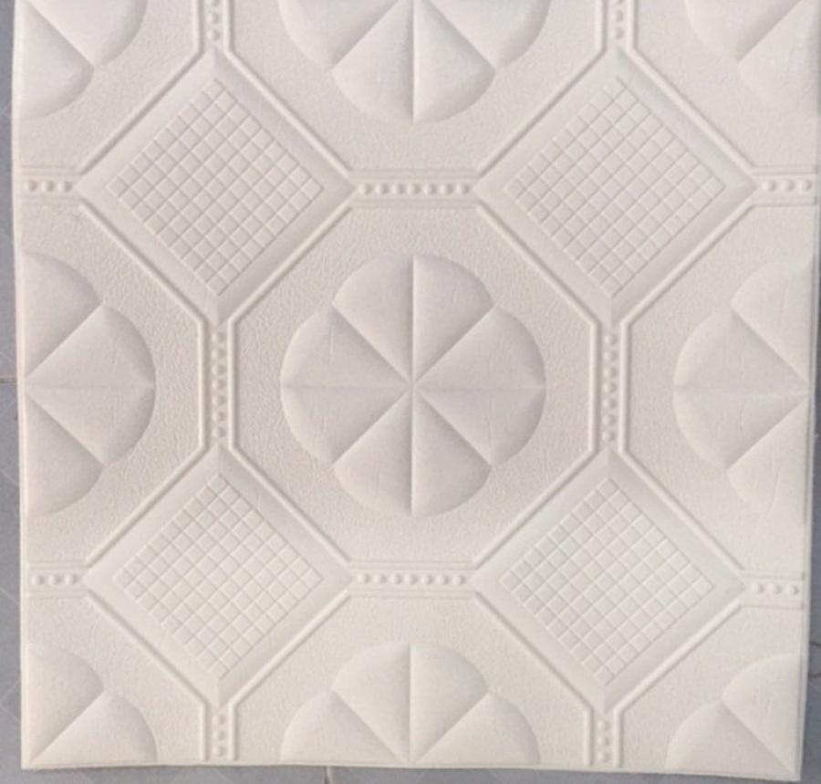 Xốp đá dán tường 3D họa tiết cổ điển trắng 5