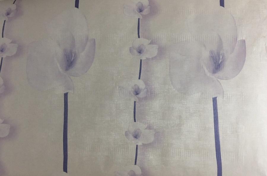 Giấy decal cuộn hoa tím 3 khổ 1m2