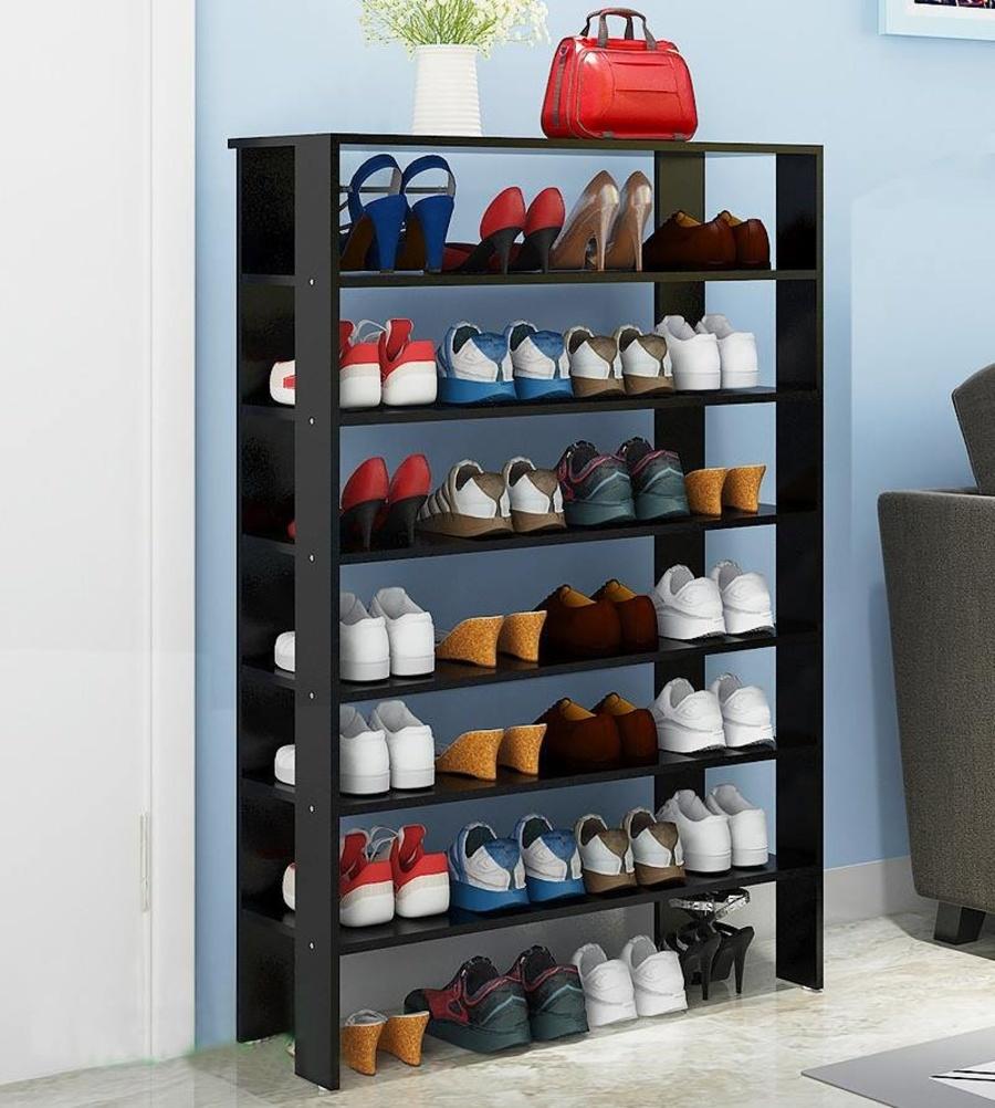 Kệ giày tiết kiệm 7 tầng màu đen