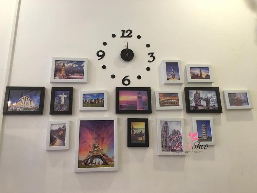 Bộ khung ảnh đồng hồ kỳ quan thế giới
