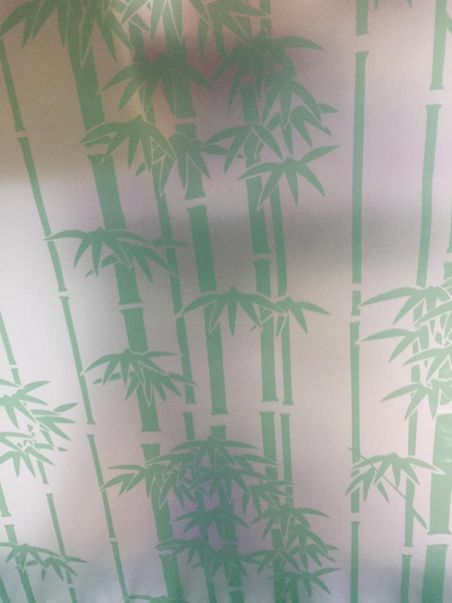 Decal cuộn kính mờ trúc xanh khổ 0.9m