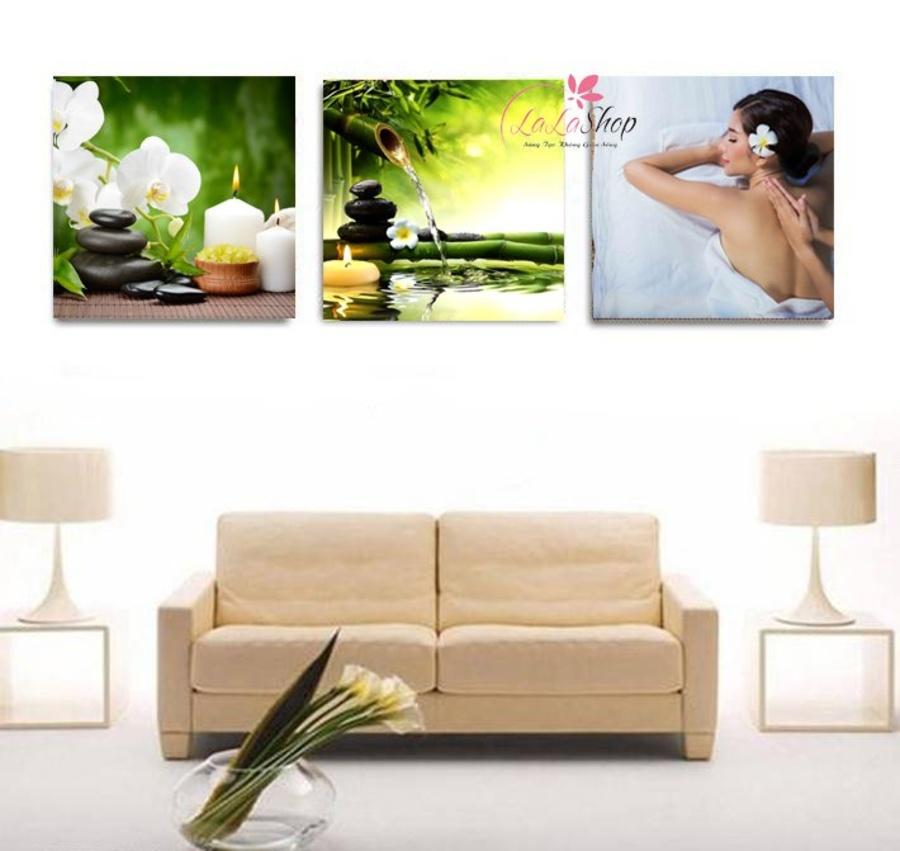 Tranh treo tường spa hoa lan trắng 4