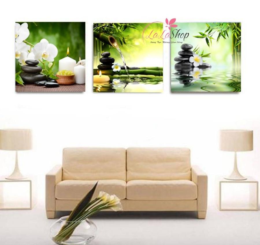 Tranh treo tường spa hoa lan trắng 3