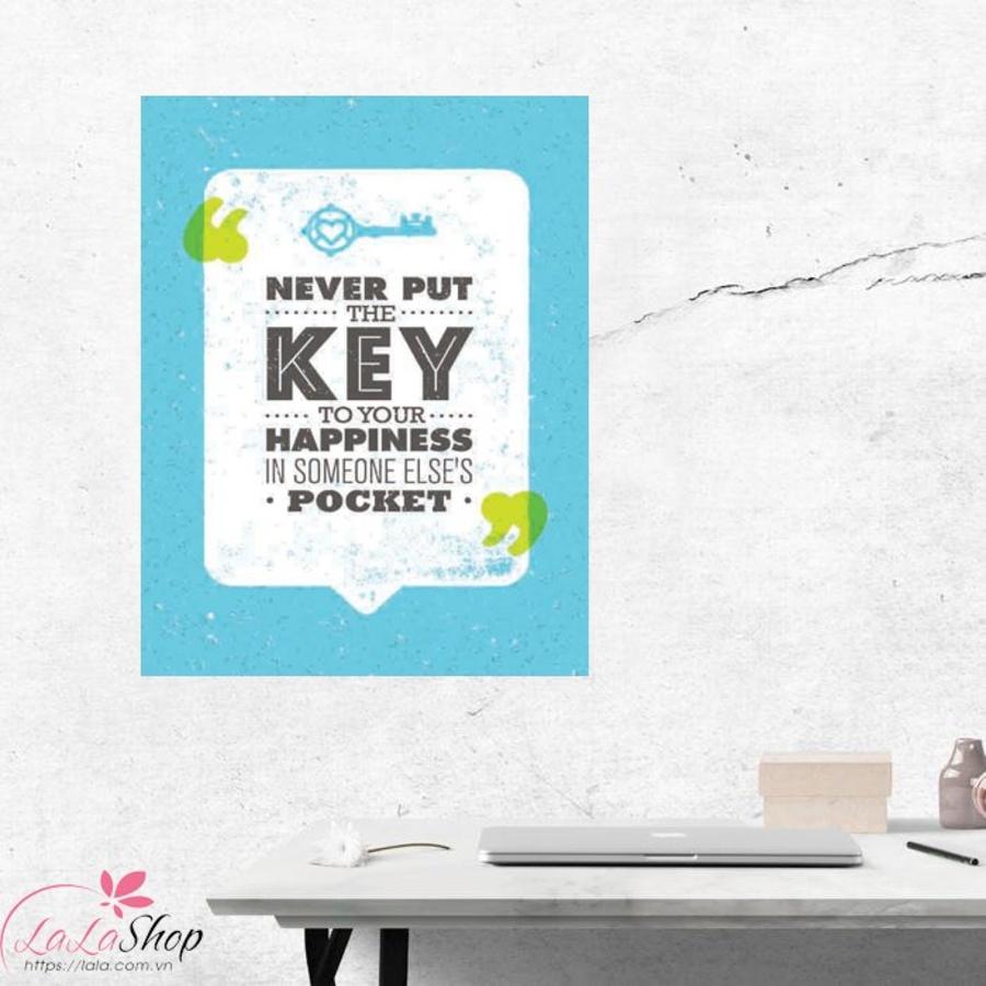 Tranh treo tường Never put the key