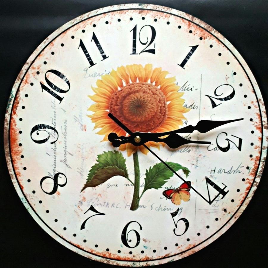 Đồng hồ vintage hoa hướng dương 3