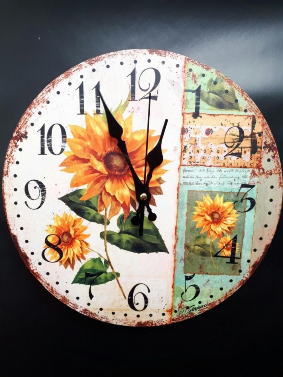 Đồng hồ vintage hoa hướng dương 2