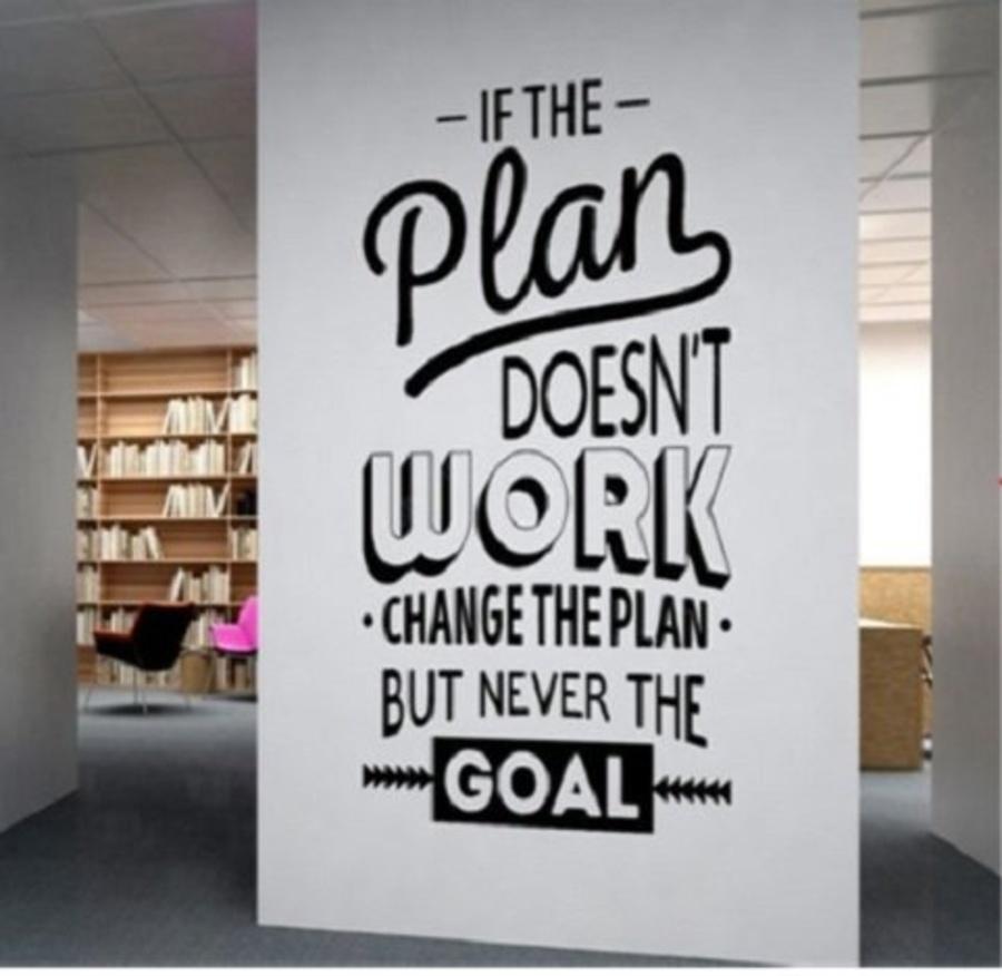 Decal văn phòng if the plan