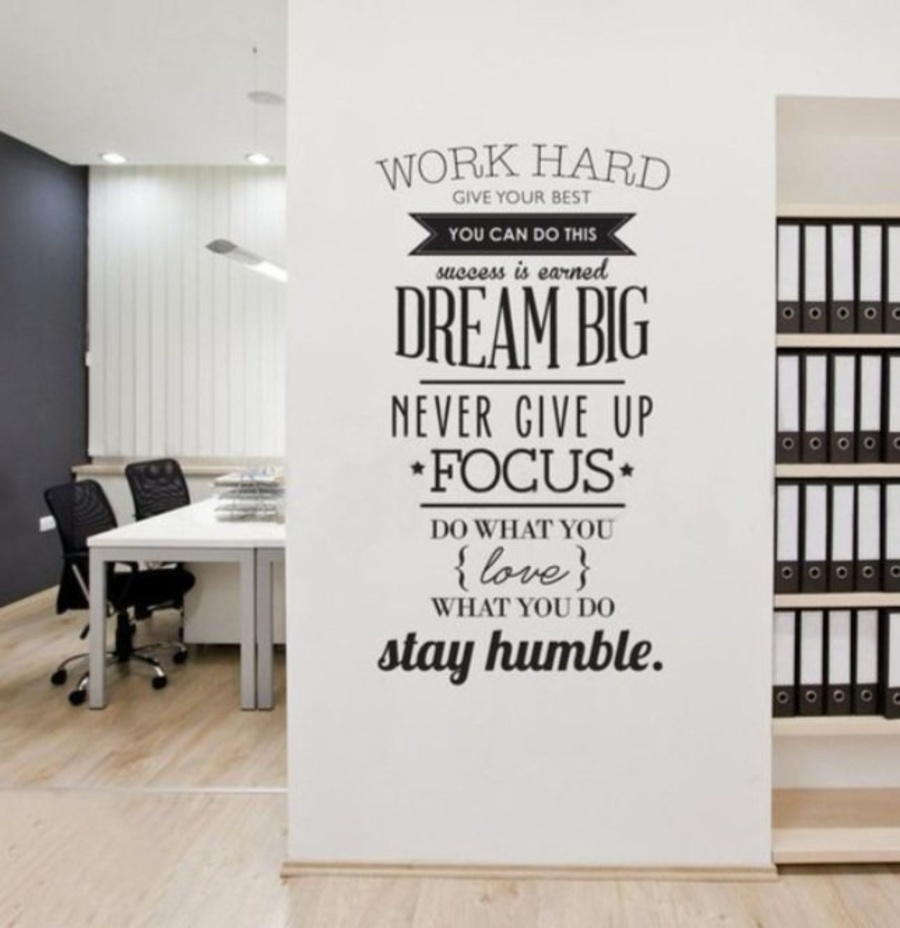 Decal văn phòng work hard give your best