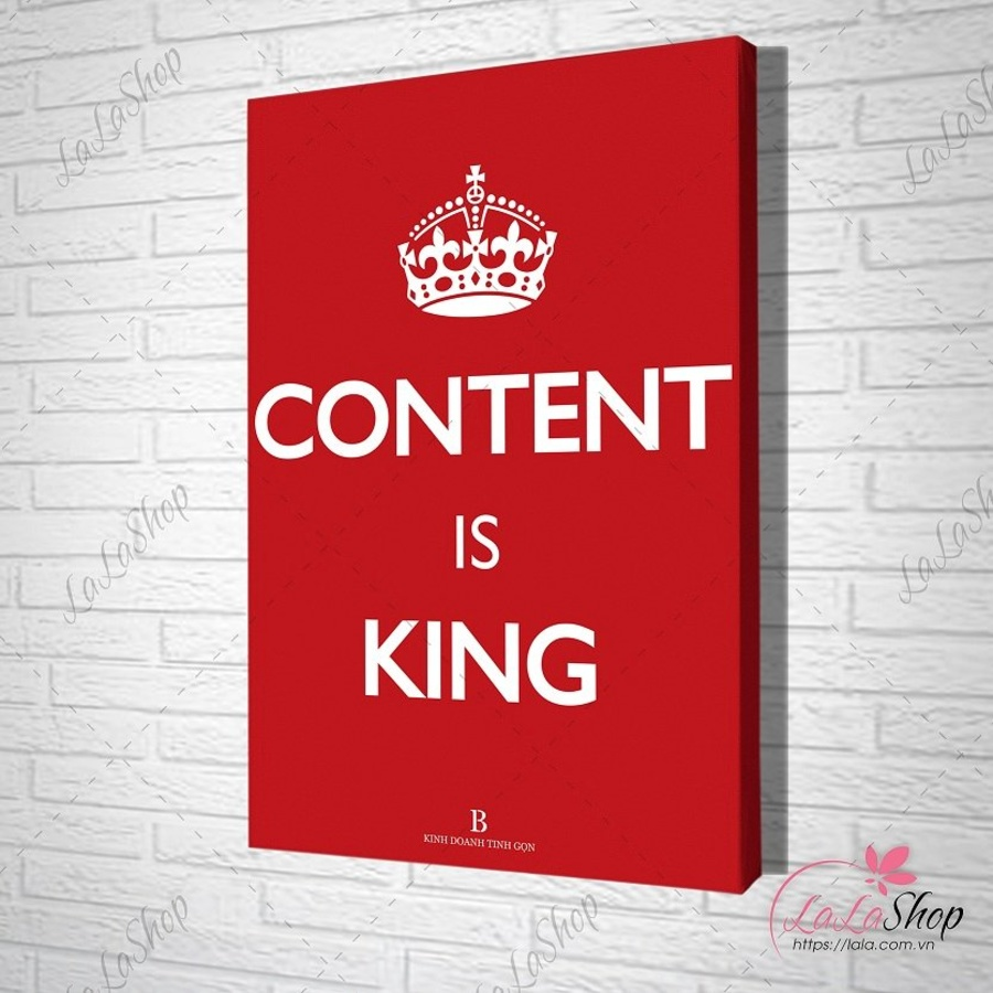 Tranh treo tường content is king