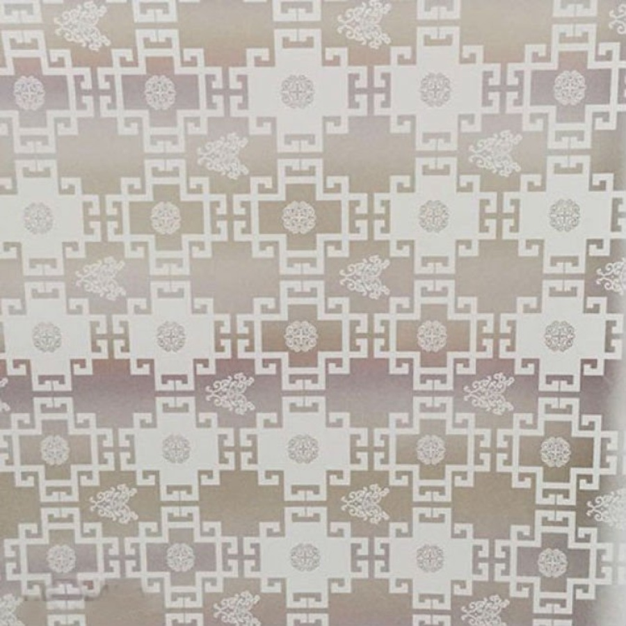 Decal cuộn kính mờ họa tiết vuông trắng khổ 0.9m