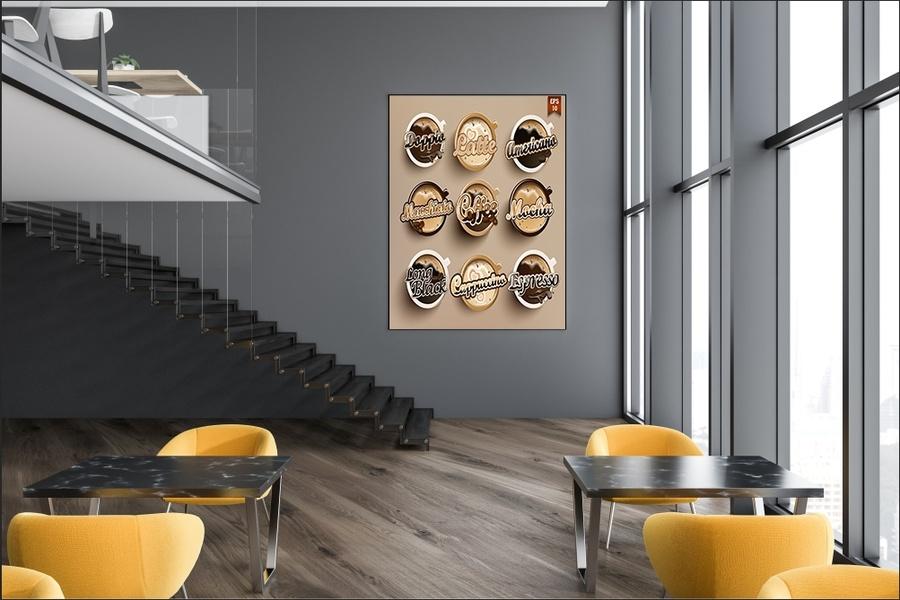 Tranh treo tường cà phê nghệ thuật 2