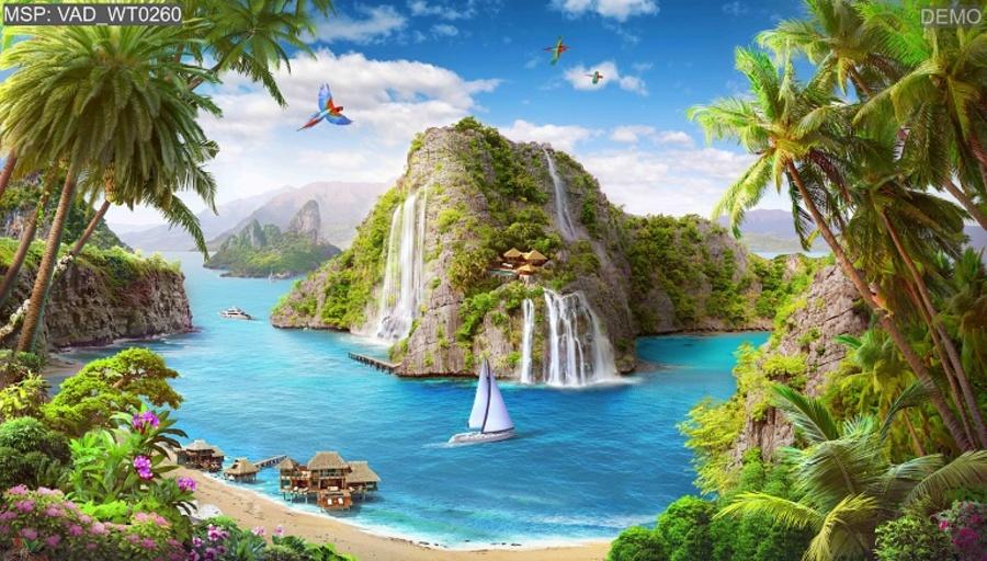 Tranh dán tường huyền thoại biển xanh
