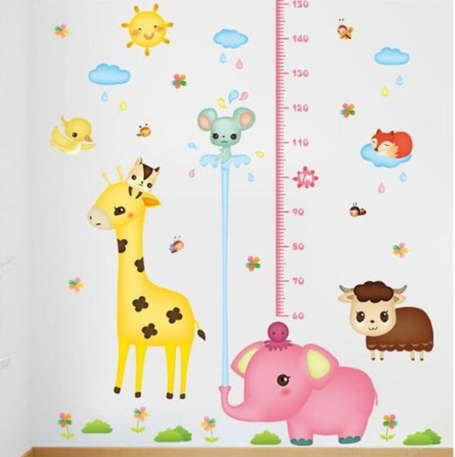Decal thước đo voi hồng