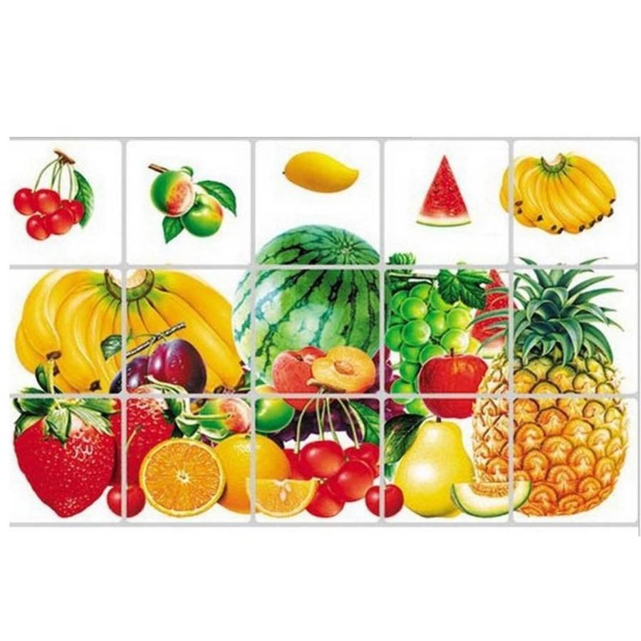 Decal dán bếp trái cây size 60x90cm