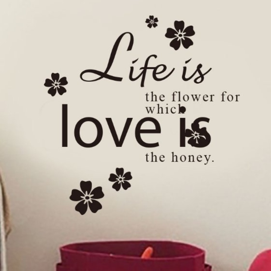 Decal dán tường love is the honey