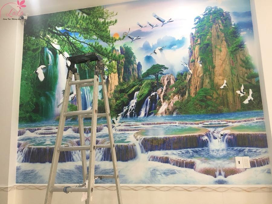 Tranh dán tường sơn thủy 2