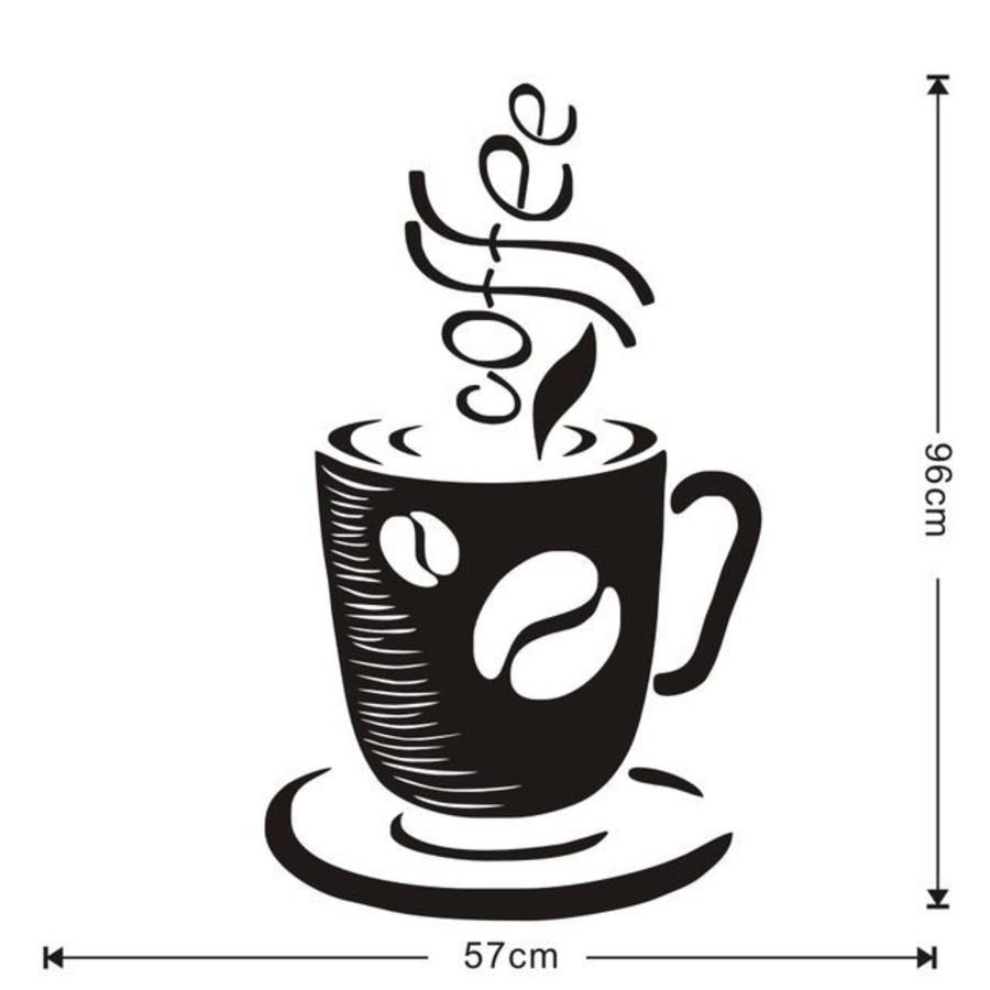 Decal dán tường Coffee 16