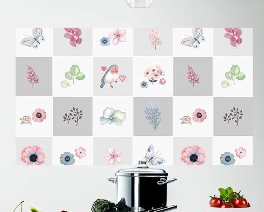Dán bếp các loài hoa
