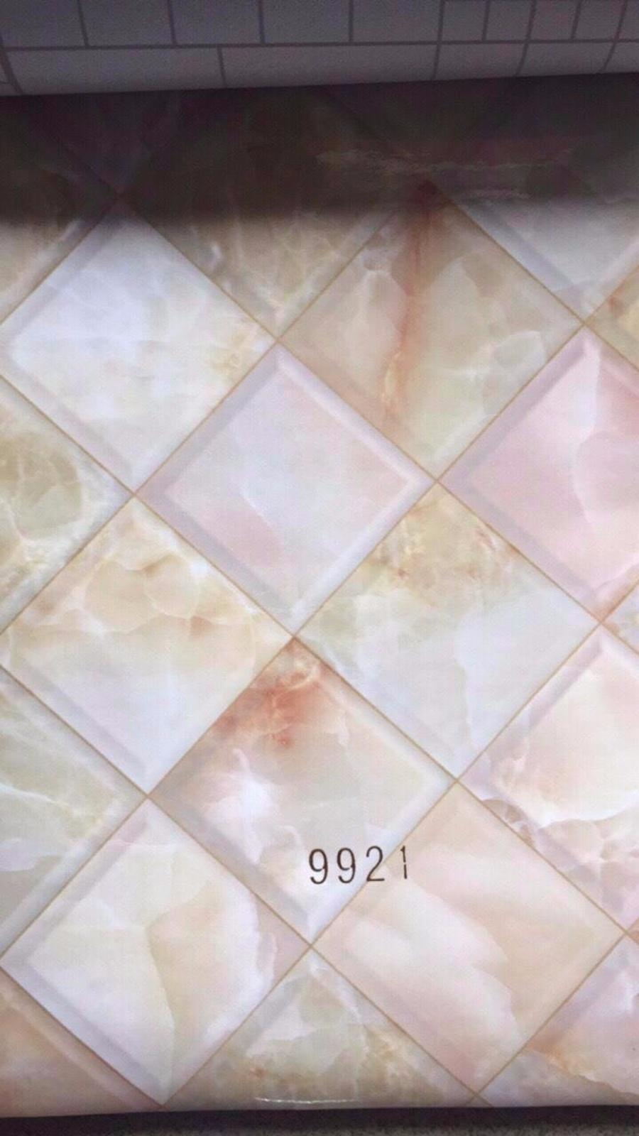 Giấy decal cuộn giả đá hình thoi khổ 1m2