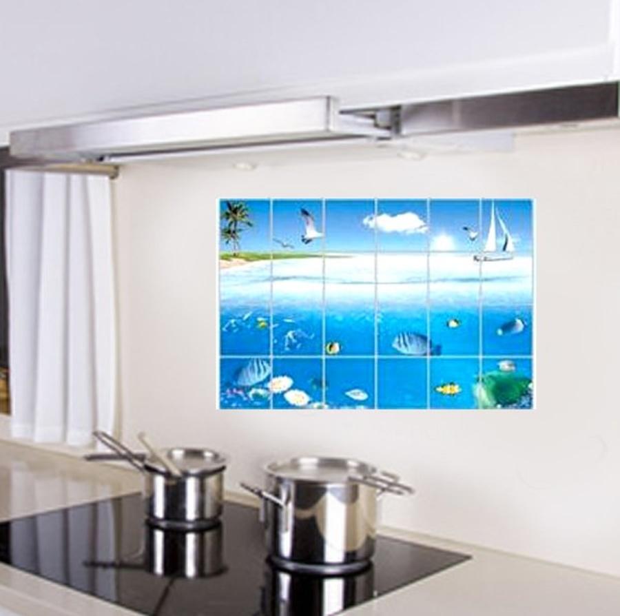 Decal dán bếp đại dương size 60x90