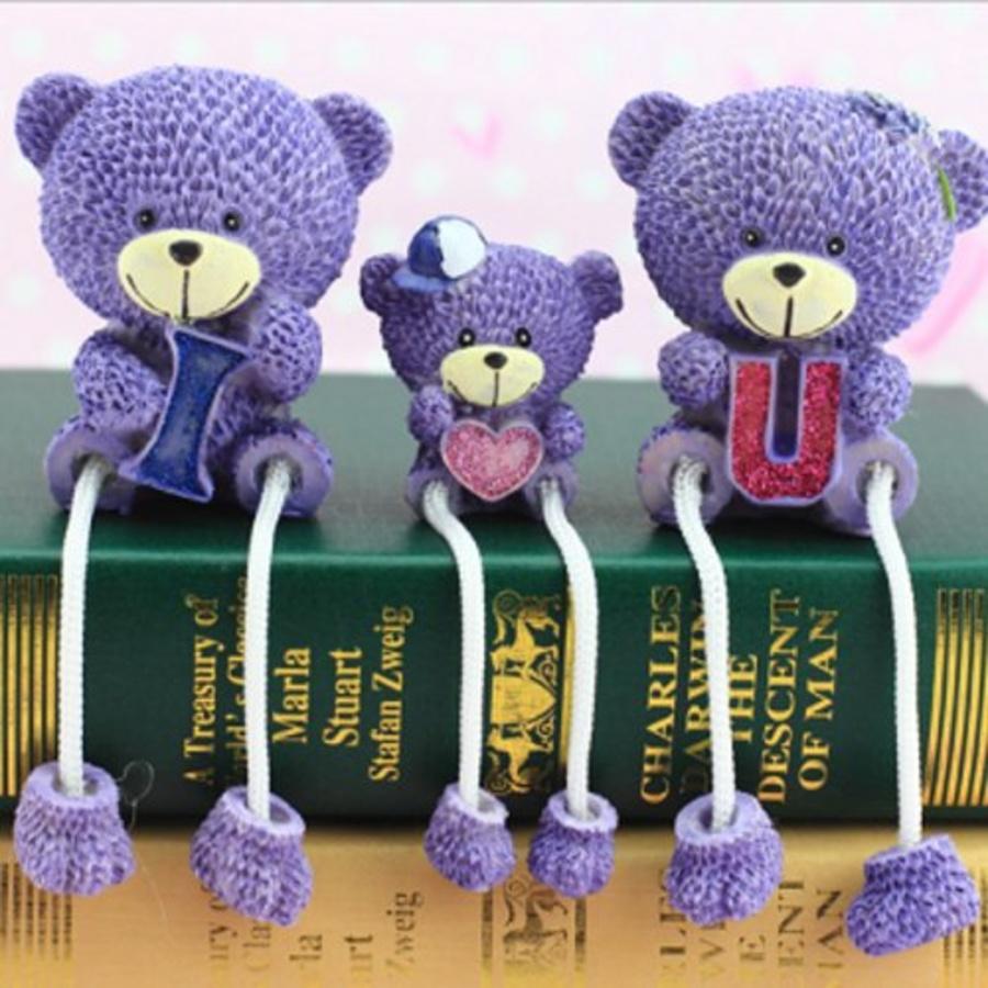 Búp bê gia đình gấu tím