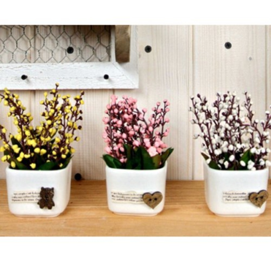 Chậu hoa bi vuông để bàn