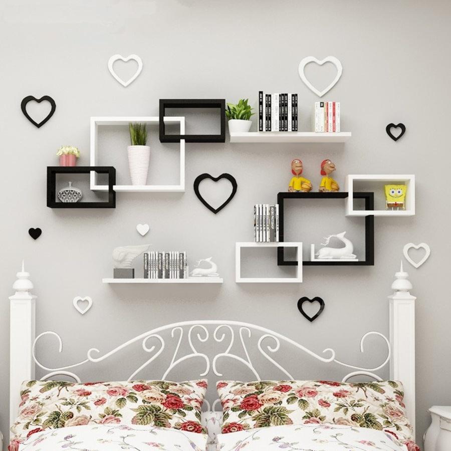 kệ trang trí phòng ngủ