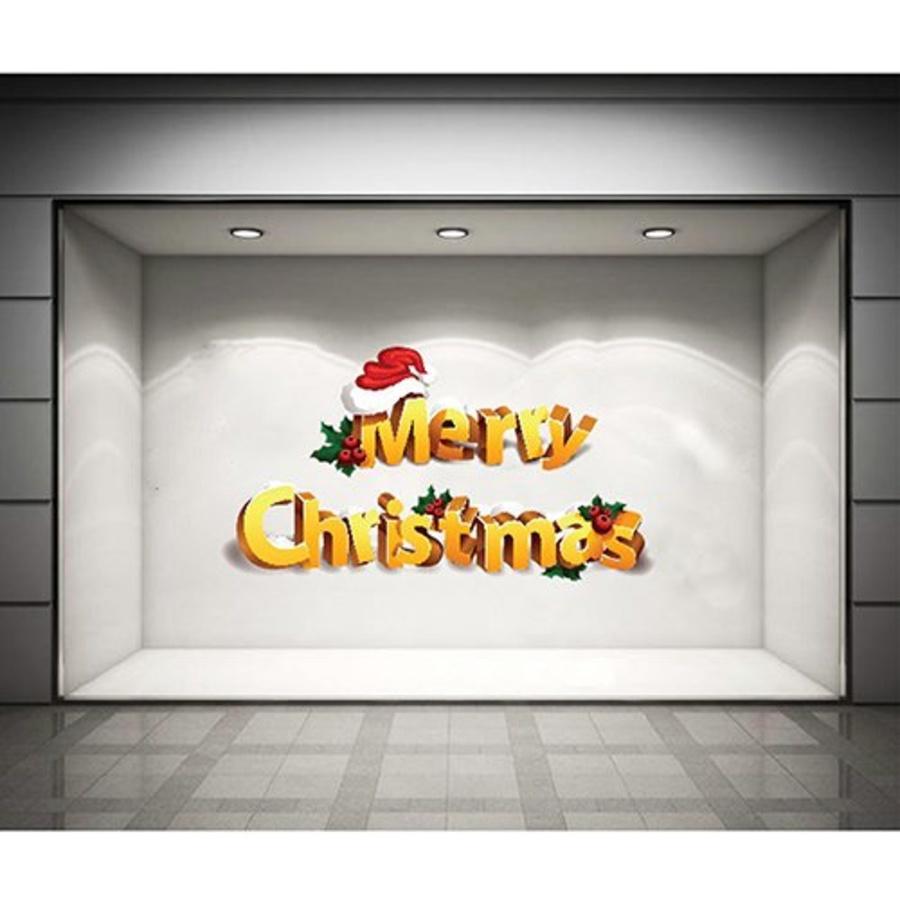Decal dán tường Merry Christmas và nón Noel 2