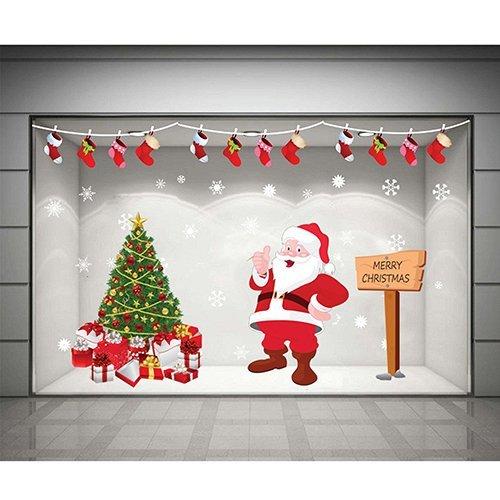 Decal dán tường Combo Ông già Noel và cây thông xanh 2
