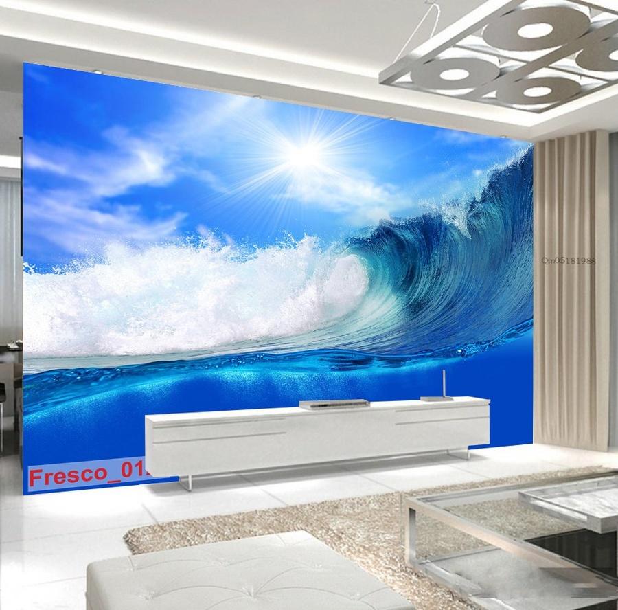 Tranh dán tường sóng biển