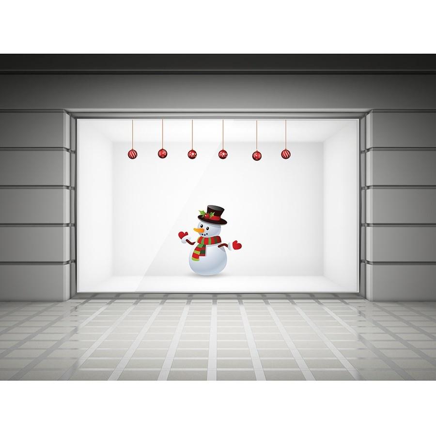 Decal dán tường người tuyết Noel