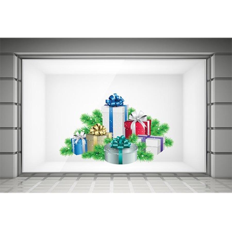 Decal dán tường  hộp quà giáng sinh 2