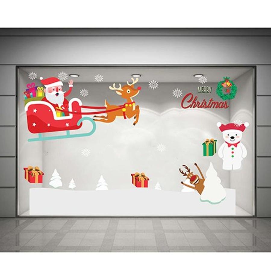 Decal dán tường Quà Noel của người tuyết (nền trắng đục)