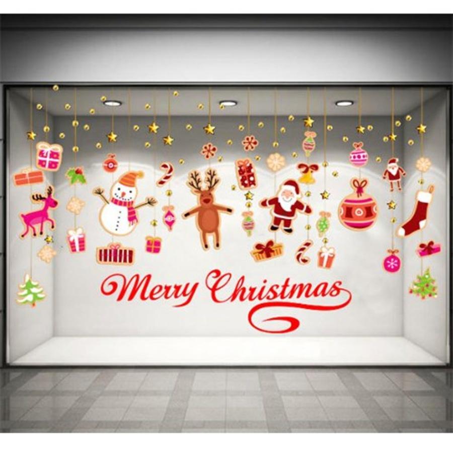 Decal dán tường Merry christmas và dây treo Noel